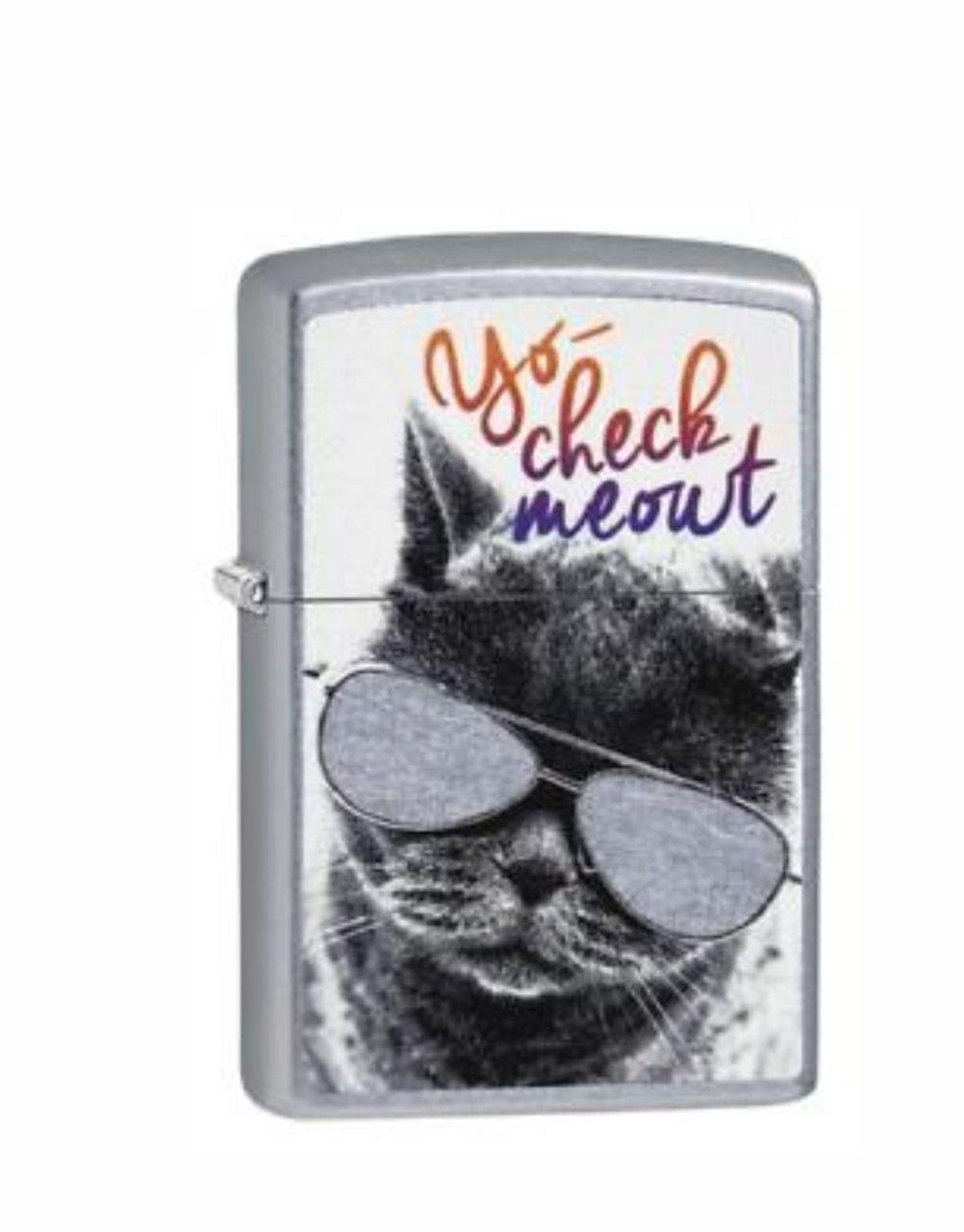 Isqueiro Zippo Glasses Cat