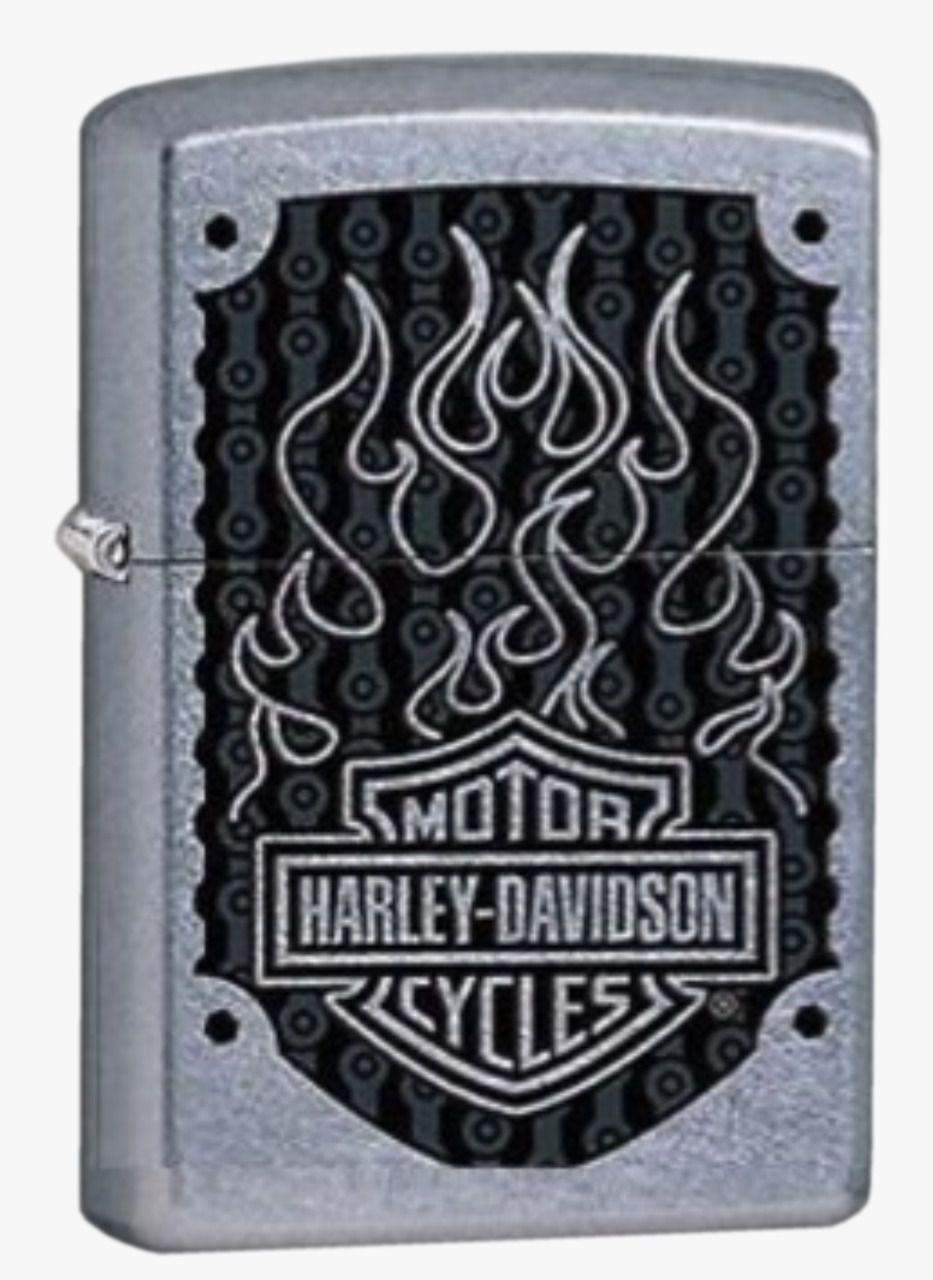 Isqueiro Zippo Harley Davidson Flame Grey