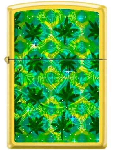 Isqueiro Zippo Leaf Pattern 2 - Amarelo