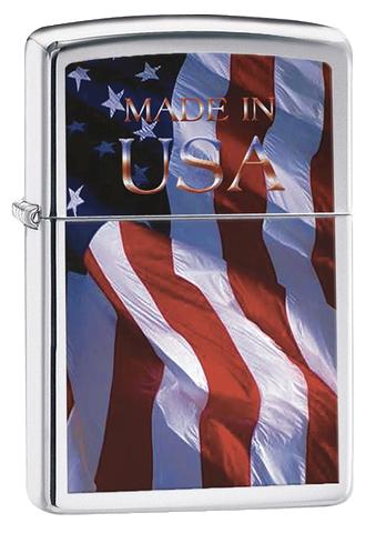 ISQUEIRO ZIPPO MADE IN USA FLAG