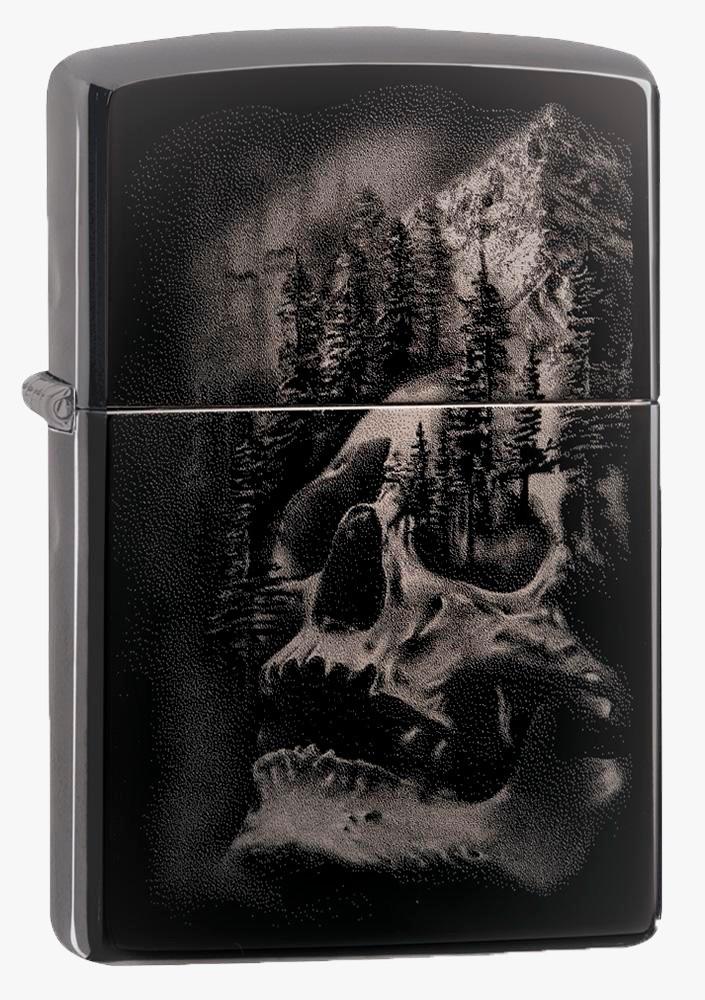 Isqueiro Zippo Skull Mountain Design