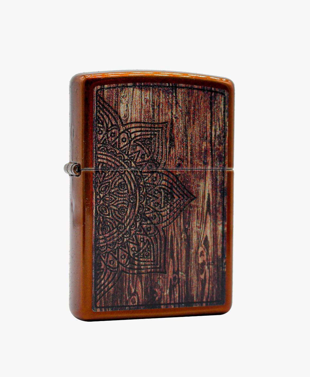 Isqueiro Zippo Wood Mandala Design