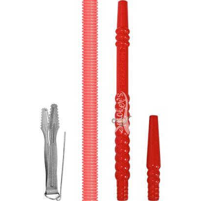 Narguile MD Hookah Curve Completo -  Vermelho
