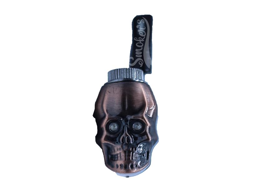 Pipe de Metal C/Piteira Flexível - Caveira