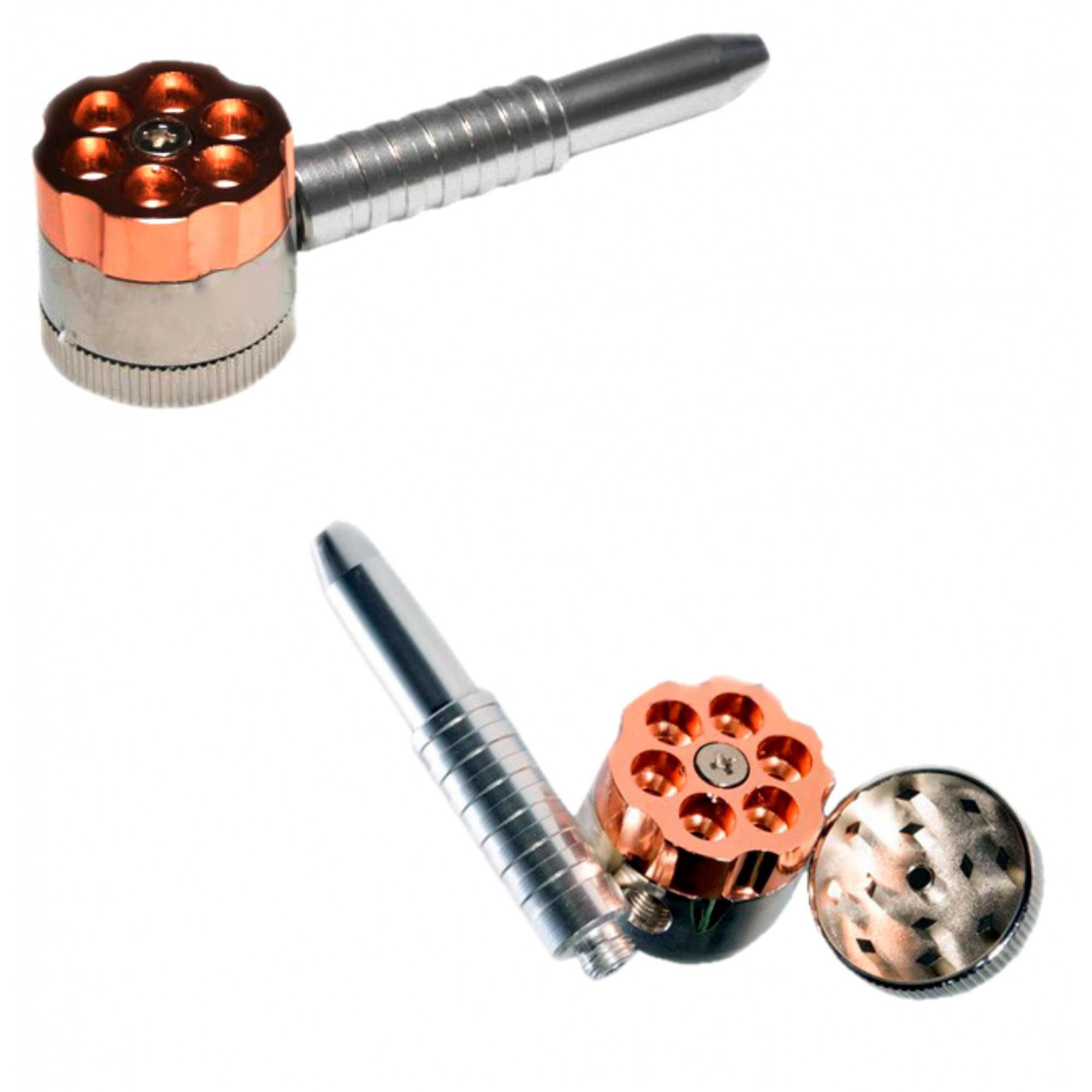 Pipe de metal e Dichavador - Tambor Revolver (Sortido)