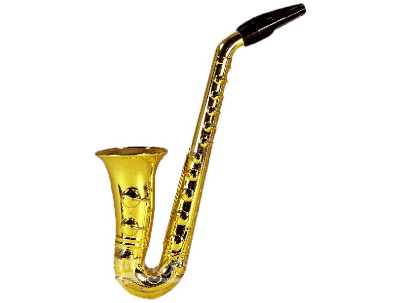 Pipe De Metal Saxofone - Dourado