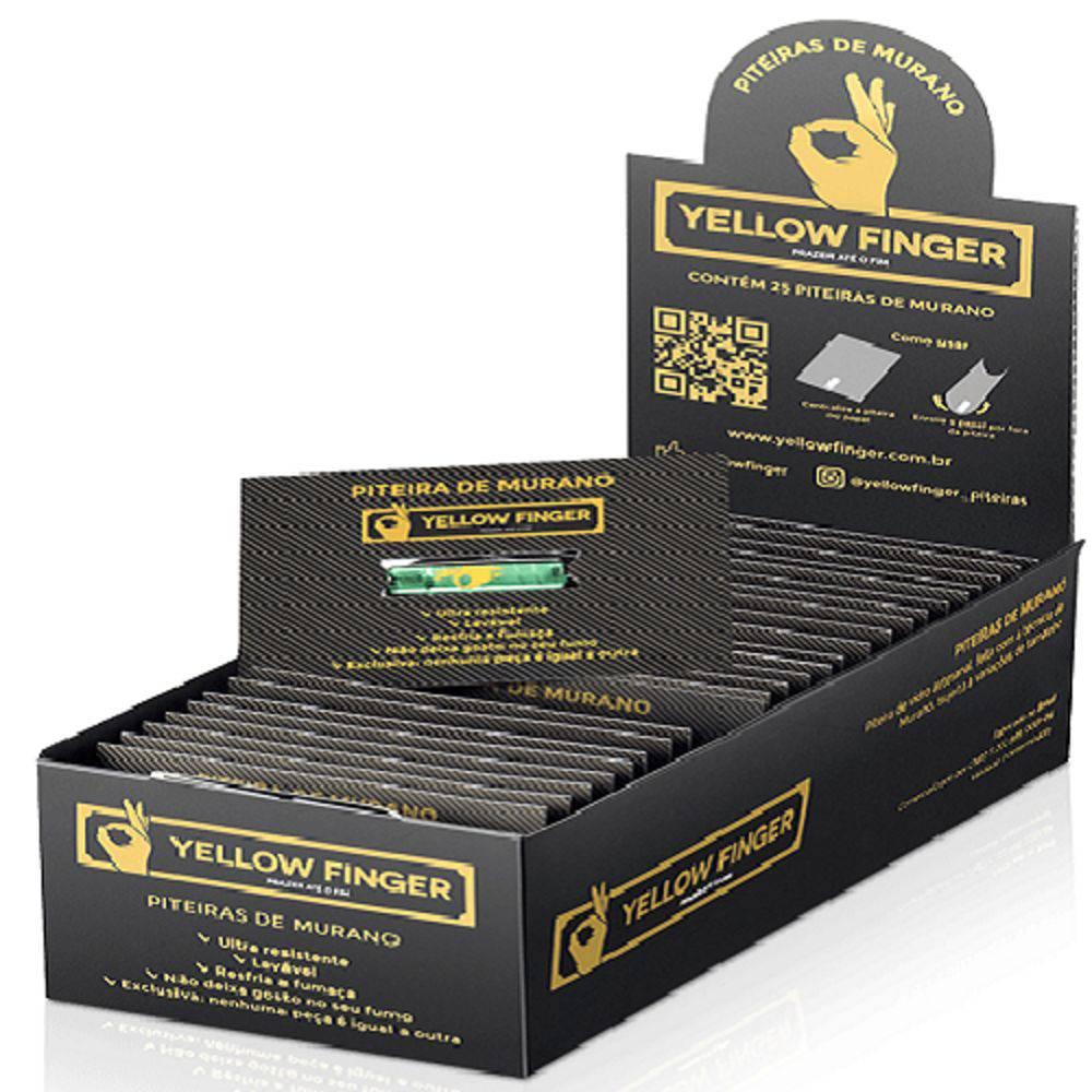 Piteira de Murano Yellow Finger - Caixa com 25 un.