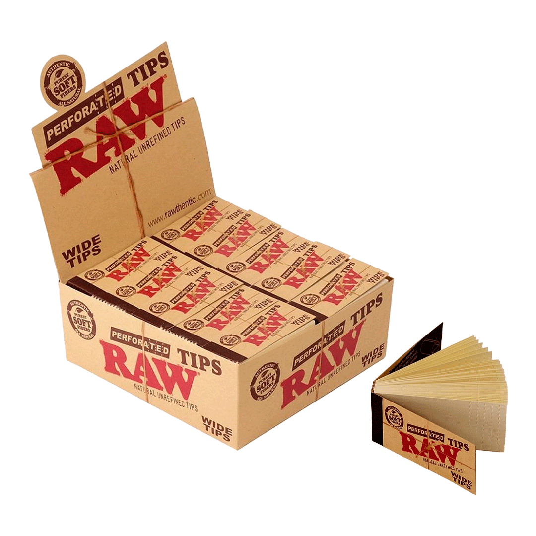 PITEIRA PAPEL RAW PERFORATED WIDE TIPS