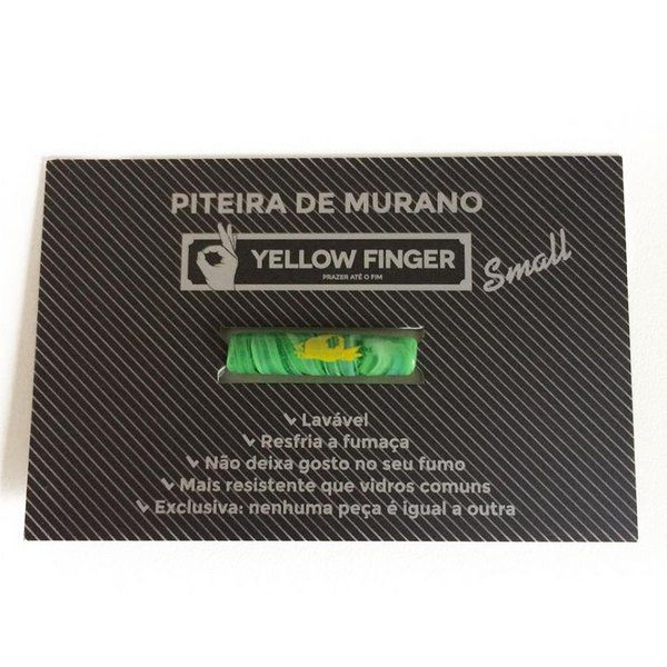 Piteira Yellow Finger Murano Small - Un.