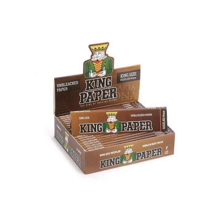 Seda King Paper Unbleached King Size - Caixa com 20