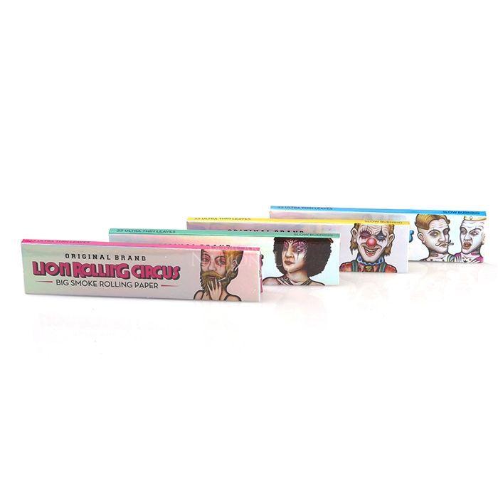 Seda Lion Rolling Circus Slim Ultra Fino King Size - Caixa com 50