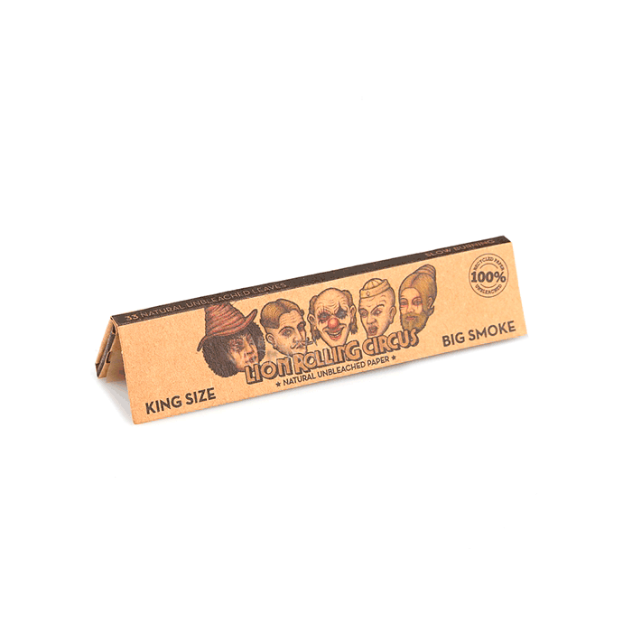 Seda Lion Rolling Circus Unbleached King Size - Caixa com 50