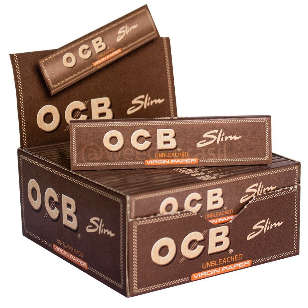 Seda OCB Brown Unbleached King Size - Caixa com 50