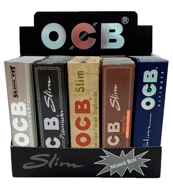 Seda OCB Mista Slim 5 tipos - Caixa com