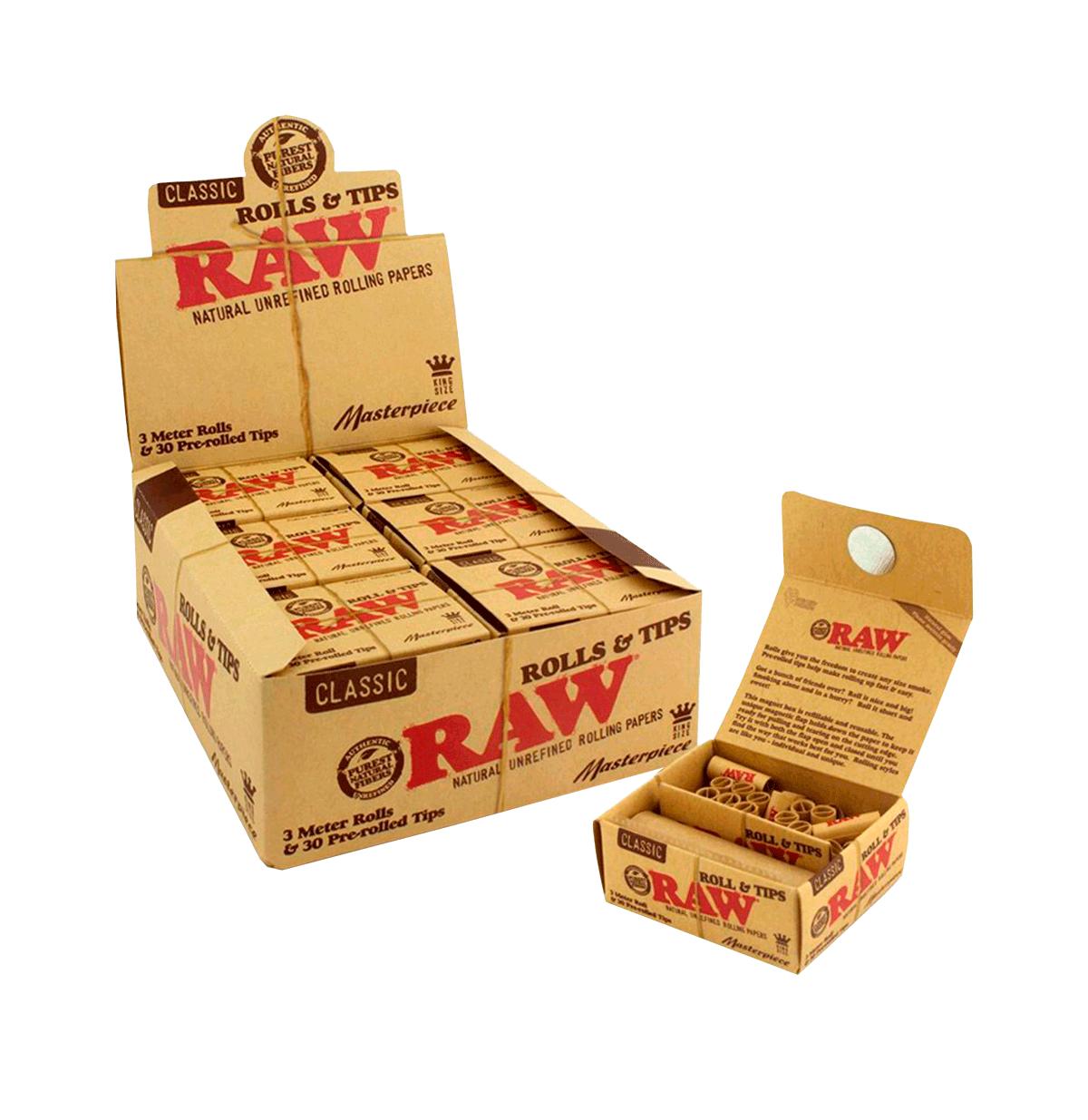 SEDA RAW CLASSIC ROLLS 3M + TIPS PRE-ROLLED
