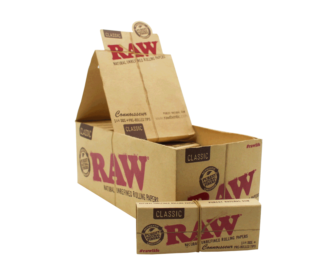 SEDA RAW CONNOISSEUR 1-1/4 + PRE ROLLED TIPS (Un.)