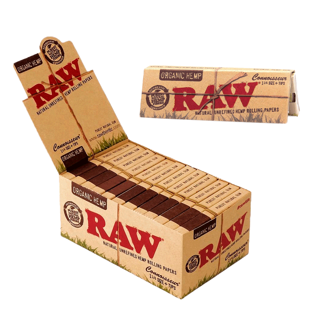 SEDA RAW ORGANIC HEMP CONNOISSEUR 1-1/4+TIPS (Un.)