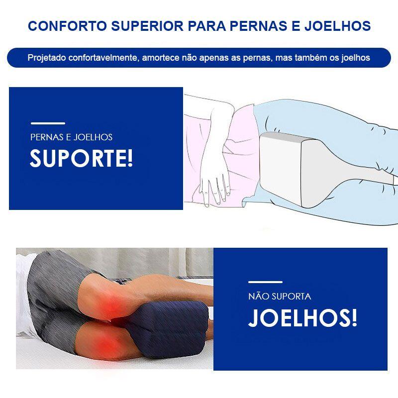 Almofada Travesseiro para os joelhos e pernas Lavável Ortopédico