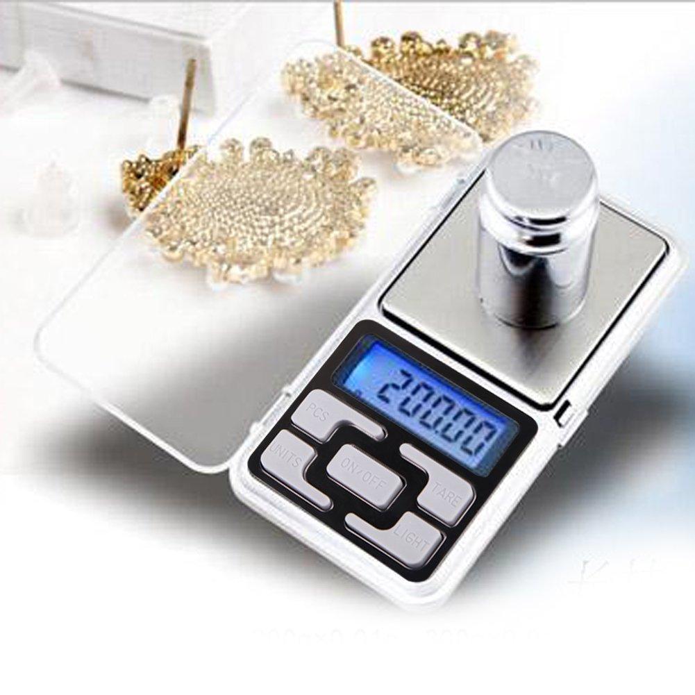 Balança de bolso Para Pesar Ouro Jóias Portátil Alta Precisão