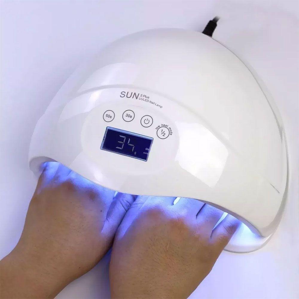 CABINE SECADORA LED UV ACRIGEL DIGITAL COM TIMER SENSOR BIVOLT 48W