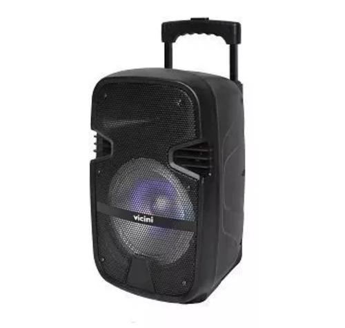 Caixa Acústica Bluetooth Usb Sd 80wrms Vicini Vc 7080 Bivolt