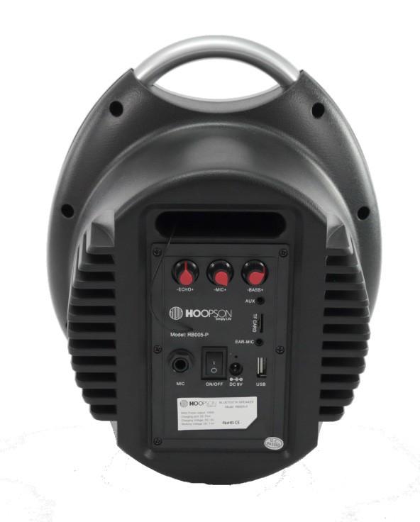 Caixa De Som Bluetooth Hoopson Micro Sd Controle Remoto Led