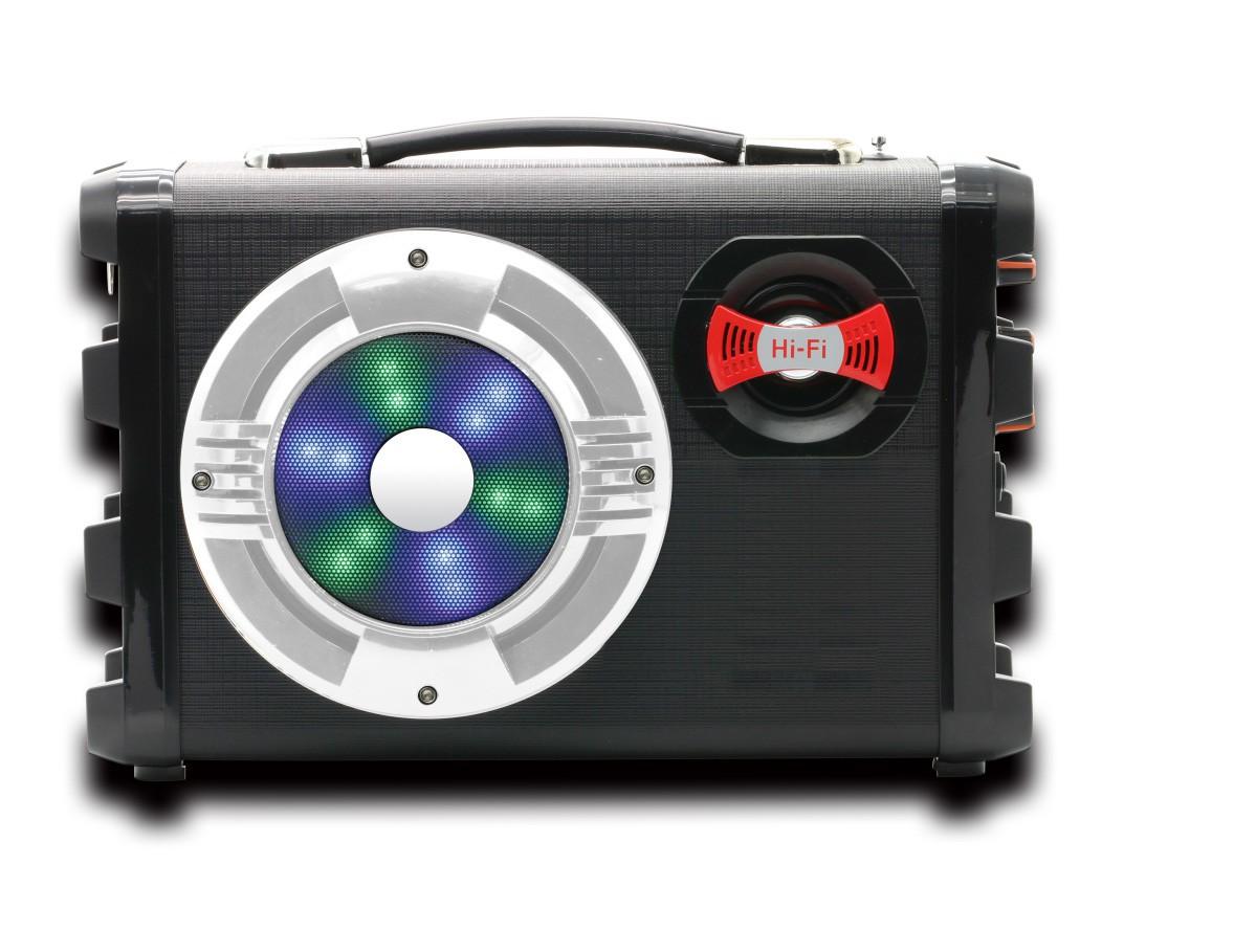 Caixa De Som Bluetooth Hoopson Rádio Fm Gravação Áudio Mp3 - RB004P