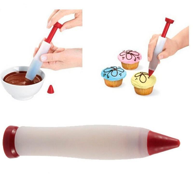 Caneta Decoradora Decorador De Bolo Cupcake De Silicone