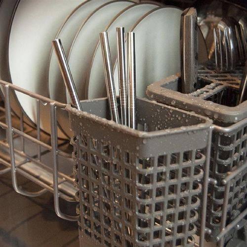 Canudos Em Aço Inoxidável 4 Peças Reutilizável + Limpador De Canudo