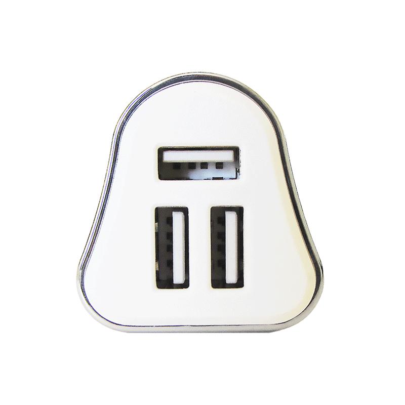 Carregador Veicular Usb Hoopson 3 Entradas Iphone Android