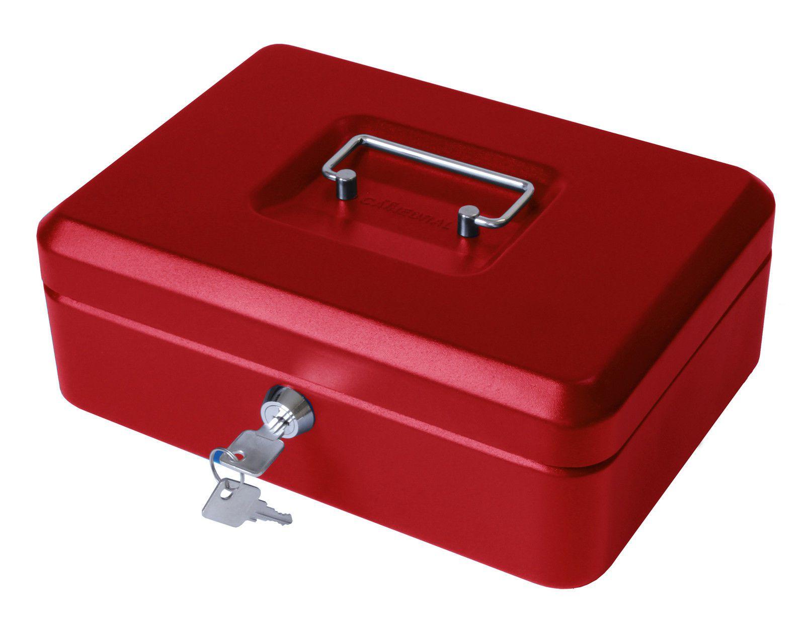 Cofre Metal Cash Box Tamanho Grande Proteja Seu Dinheiro Jóias