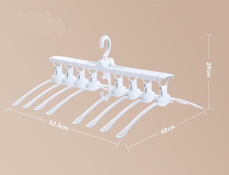 Conjunto De Cabide Ajustável Regulável Rotação 8 Cabides