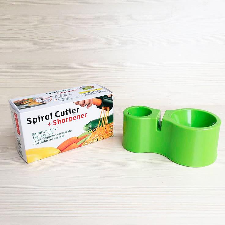 Descascador Aspiral De Vegetais - Spiral Cutter + Amolador de facas
