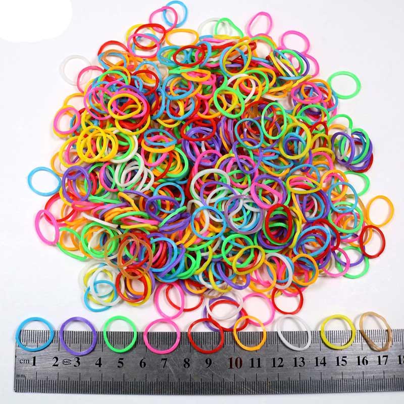 Elastico Para Cabelo 3600 Elasticos Silicone Trança