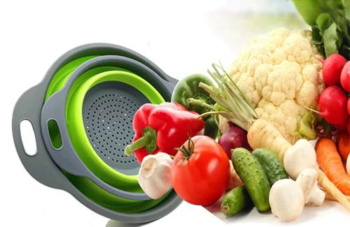 Escorredor Retrátil Silicone Alimentos Legumes Macarrão