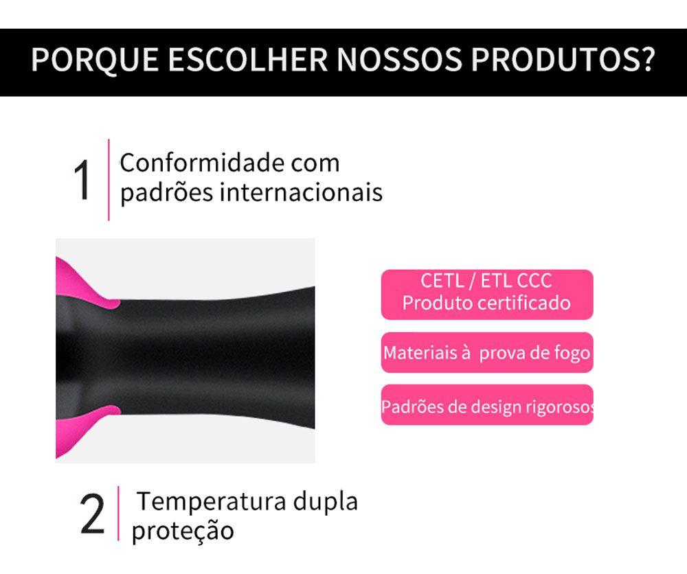 Escova Alisadora Secadora e Modeladora Profissional 1000w 110v