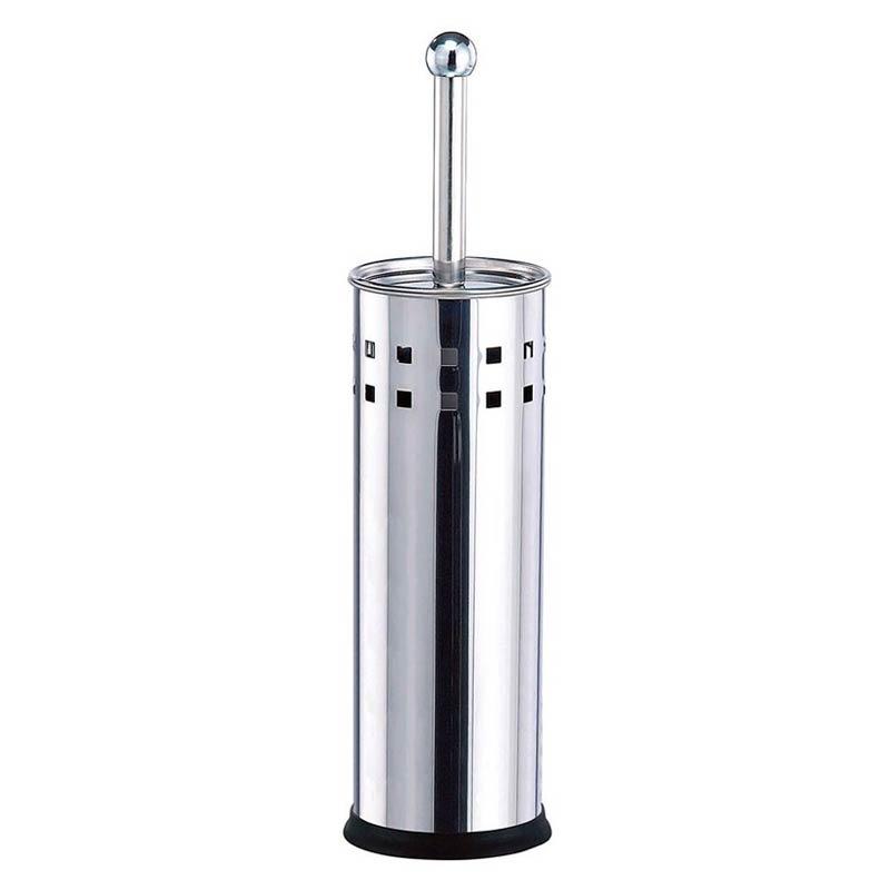 Escova Sanitária Para Banheiro Suporte Inox Luxo