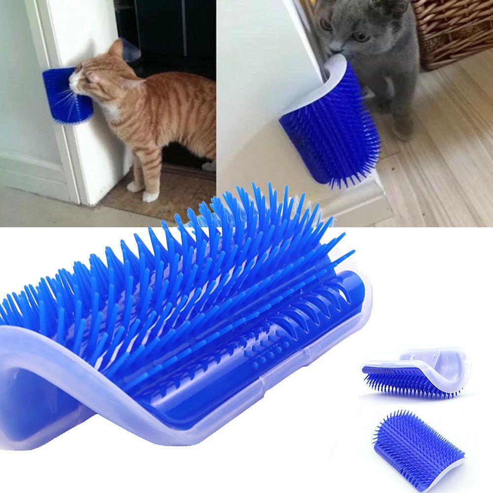 Escova Tira Pelos Pet Parede Gatos Com Catnip Massagem