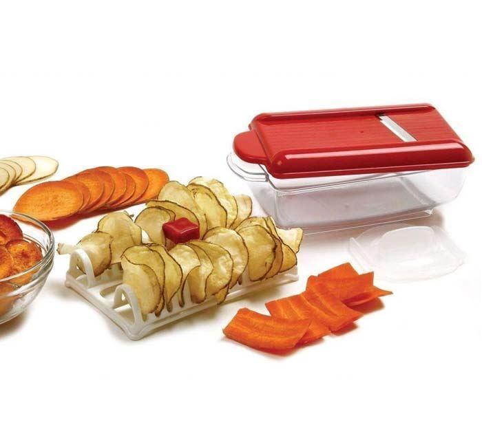Fatiador De Batatas Chips Cortador Pronta Entrega Microondas