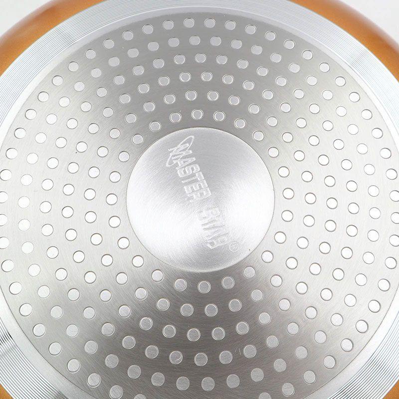 Frigideira 24 Cm Cerâmica Titanium Antiaderente Chef Cozinha Sem Óleo