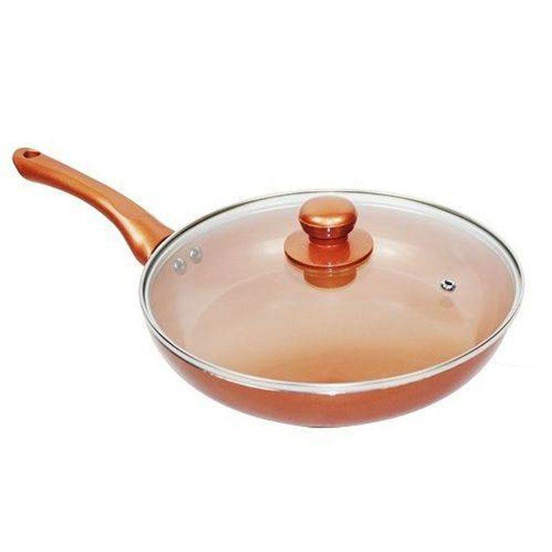 Frigideira 28 Cm Cerâmica Titanium Antiaderente Chef Cozinha Sem Óleo