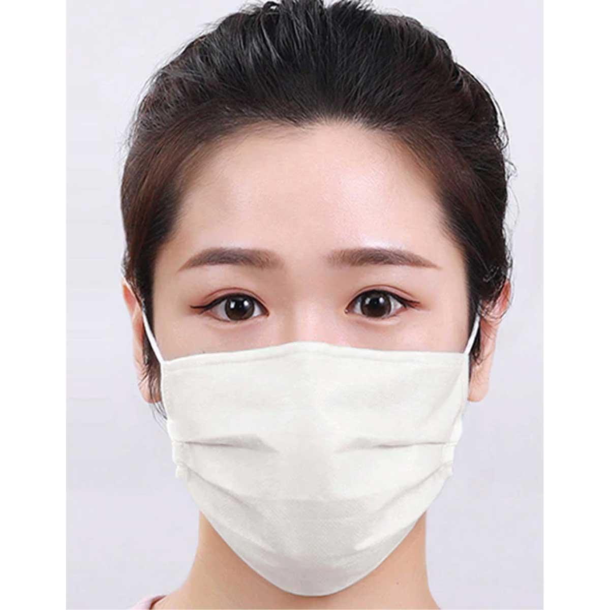 Kit 2 Máscaras Com Elástico de Proteção Facial Lavável