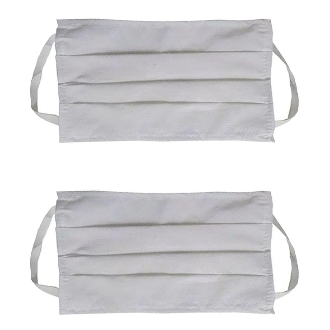 Kit 2 Máscaras Lavável Com Elástico Proteção Facial