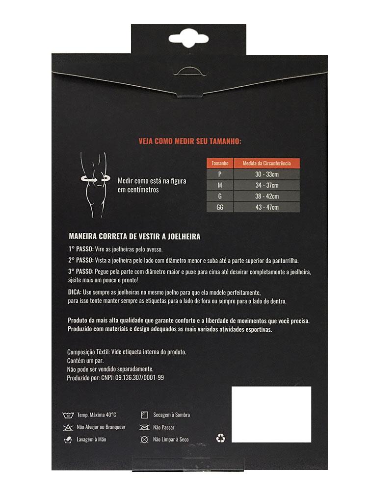 Kit Joelheira Neoprene 7mm Progne + Luva sem munhequeira Exercício Funcional Academia