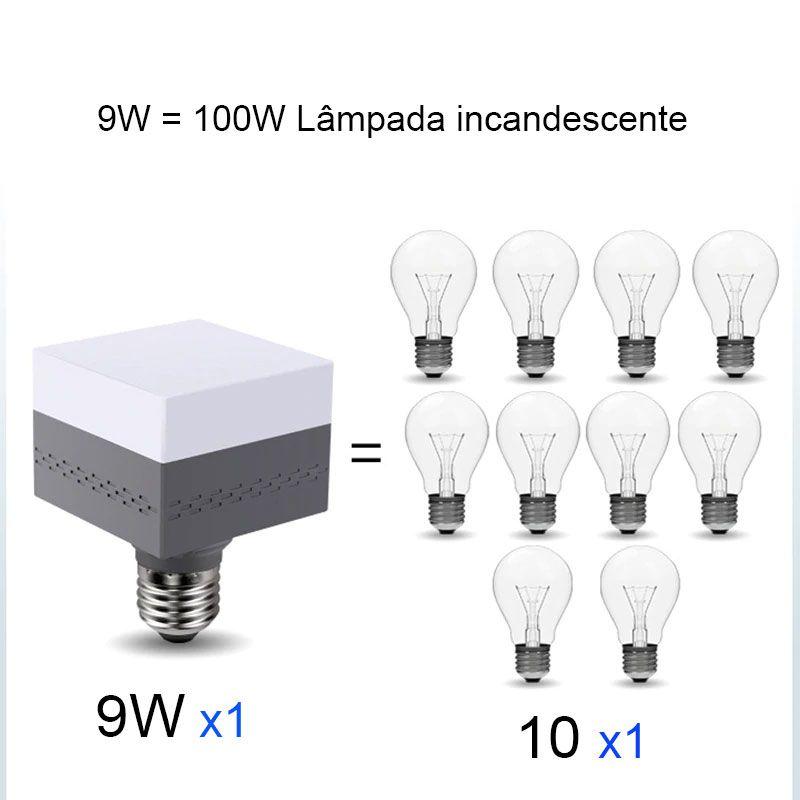 Lampada Quadrada Led 45w Decoração 180º