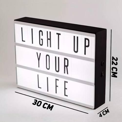 Lightbox Cinema Caixa De Luz Letreiro A4 Led Luminária Decoração Light