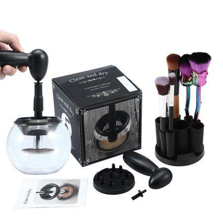 Limpador De Pincel Elétrico Maquiagem Make Limpa E Seca