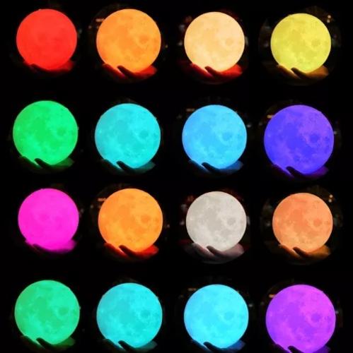 Luminária Lua Abajur Para Quarto Sala Escritório Várias Cores Sem Fio