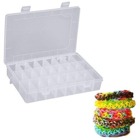 Maleta Pulseira Caixa Organizadora Com 4.800 Elásticos - MC