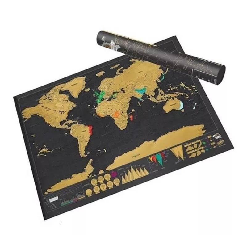 Mapa De Raspar Scratch Viagens Países Volta Ao Mundo Travel